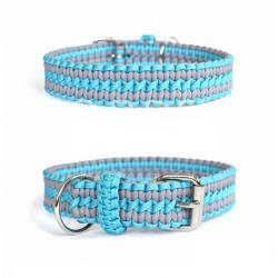 Nastavitelný paracord obojek - modrý